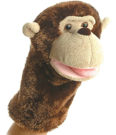 Aurora world monkey hand puppets