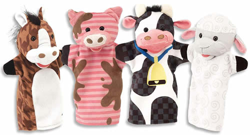 Farm Friends Hand Puppet Set