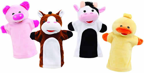 Farm animal hand puppets