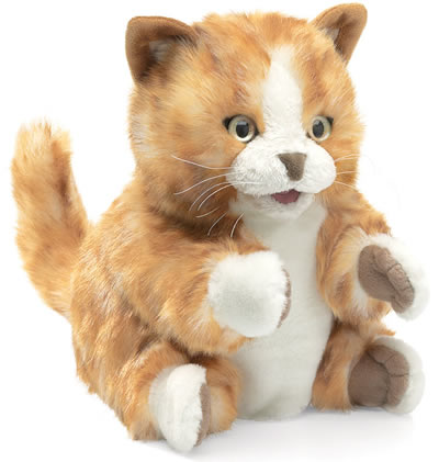 Folkmanis cat hand puppet