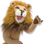 Lion puppet by Melissa & Doug