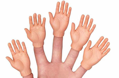 Hands finger puppets