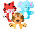 Plastic animal puppets