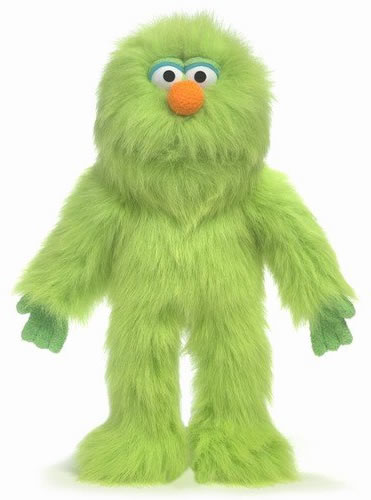 Silly puppets green monster