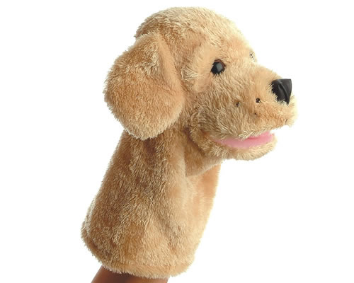 Aurora world dog hand puppet