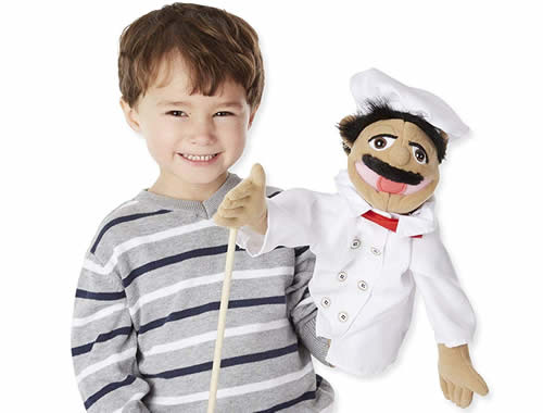 Chef puppet with rod