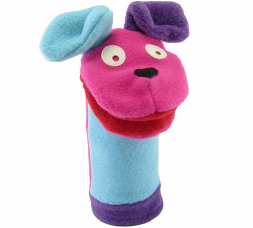 Dog sock puppet