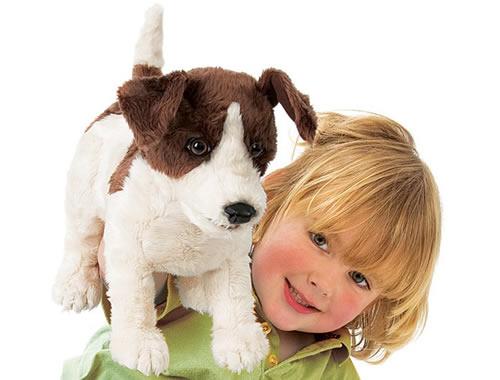 Folkmanis realistic dog puppet