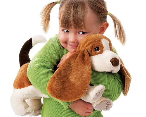 Folmanis puppy hand puppet
