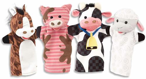 Melissa and Doug farm puppets