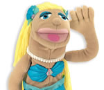 Mermaid hand puppet