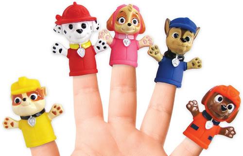 Paw Patrol dog finger puppet