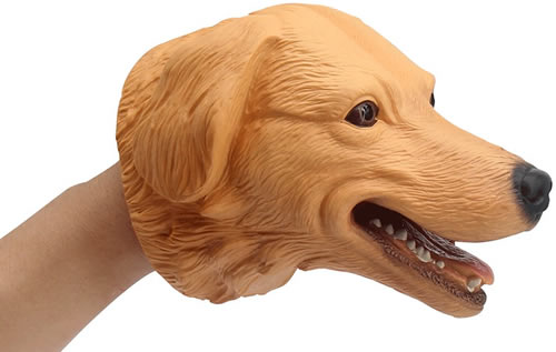 Zonxie realistic dog puppet