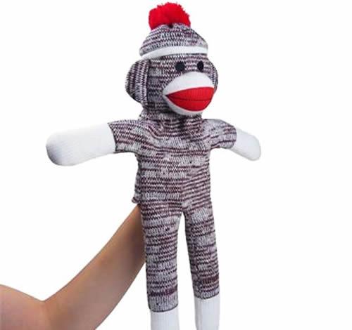 Plushland Monkey Sock Puppet