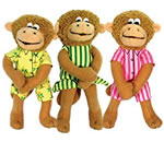 Set of monkey finger puppets